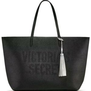 NEW WITH TAGS Victoria's Secret Black Tote Bag
